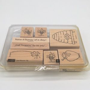 Stampin' Up! Just Buzzin' By set of 8 stamps